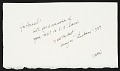 View Wayne Thiebaud letter to Hassel Smith digital asset: verso