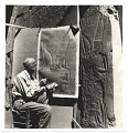 View Joseph Lindon Smith reproducing an Egyptian bas relief digital asset number 0