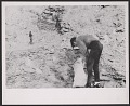 View Photograph of Robert Smithson gathering slate in Bangor, Pennsylvania digital asset number 0