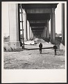 View Photograph of Robert Smithson walking under a bridge in Pine Barrens, New Jersey digital asset number 0