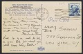 View Eva Hesse and Ruth Vollmer postcard to Robert Smithson and Nancy Holt, New York, New York digital asset: postcard back 1