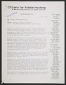 View Doris C. Freedman, Ellie Amel and Klaus Kertess memorandum to Citizens for Artist Housing digital asset number 0