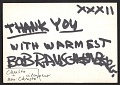 View Robert Rauschenberg postcard to Alan R. Solomon digital asset: verso