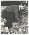 View Antonio Sotomayor at work on mural for Peruvian Pavilion, Treasure Island Exposition digital asset number 0