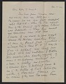 View Marsden Hartley letter to Helen Stein digital asset number 0