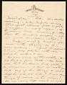 View John Henry Bradley Storrs letter to Marguerite Deville Chabrol Storrs digital asset number 0