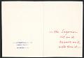 View Samson Feldman greeting card to George Sugarman digital asset: verso