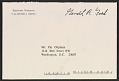 View President Gerald Ford letter to Pat Oliphant digital asset: envelope