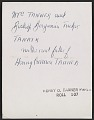 View Mrs. Tanner and Bishop Benjamin Tucker Tanner, mother and father of Henry Ossawa Tanner digital asset: verso