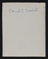View Photograph of Edmund Charles Tarbell playing golf digital asset: verso
