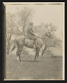 View Photograph of Edmund A. Tarbell on Eaglet, his horse, in New Castle, New Hampshire digital asset number 0