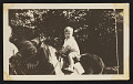 View Photograph of Mary Tarbell Shaeffer and Emeline A. Tarbell with Edmund C. Tarbell II on horse, Peanut digital asset number 0