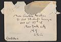 View Isamu Noguchi, Paris, France letter to Andrée Ruellan, New York, N.Y. digital asset: envelope