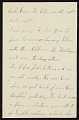 View Mary Thayer letter to unidentified recipient digital asset number 0