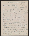 View Charles Webster Hawthorne letter to Emma Beach Thayer digital asset: page 1