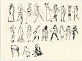 View Figure Sketches (Including James Joyce) digital asset: verso