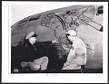 View Sergeant Wayne Thiebaud painting on a B-29 aircraft at Mather Field, Calif. digital asset number 0