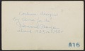 View Costumes designed by Alma Thomas for Howard University Players, unidentified men in photographs digital asset: verso