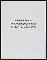 """View Thread Waxing Space records digital asset: Nayland Blake, """"The Philosopher's Suite"""" (May 17 - June 11, 1994)"""