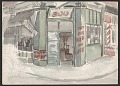 View Watercolor sketch of a city scene digital asset number 1