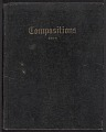 View Composition notebook of paintings by Herman Trunk Jr. digital asset: cover