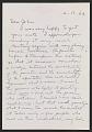View Jack Tworkov letter to John Ashbery digital asset number 0