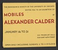 """View Announcement for """"Mobiles by Alexander Calder"""" digital asset number 0"""