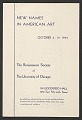 """View Exhibition Catalogue for """"New Names in American Art"""" digital asset number 0"""