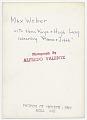 View Max Weber digital asset: verso