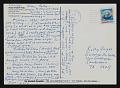View Lucy Lippard, Boulder, Colorado postcard to Kathy Vargas, San Antonio, Texas digital asset number 0