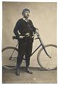 View Elihu Vedder with a bicycle digital asset number 0