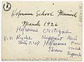 View Hans Hofmann and students at the Hofmann School in Munich digital asset: verso