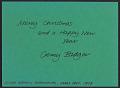 View Gerry Badger Christmas card to Samuel J. Wagstaff digital asset: verso