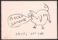View Claes Oldenburg holiday card to Samuel Wagstaff digital asset number 0