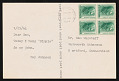 View Postcard from Ray Johnson to Sam Wagstaff digital asset number 0