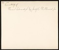 View Reproduction of a Currier & Ives receipt digital asset: verso