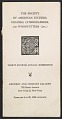View Society of American Etchers, gavers, lithographers, and Woodcutters, 334d Annual Exhibition, Checklist digital asset: cover