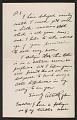 View Fragment of a letter from Albert Pinkham Ryder to Mrs. Olin Levi Warner (Sylvia Martinache Warner) digital asset number 0