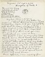 View Frida Kahlo, Coyoacán, Mexico letter to Clara Strang Weatherwax, Berkeley, California digital asset: page 1