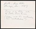 View Photograph of Ludwig Mies van der Rohe digital asset: verso