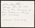 View Photograph of Harry Callahan and Ludwig Mies van der Rohe digital asset: verso