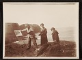 View Edwin Ambrose Webster, Georgianna Webster, and unidentified woman painting en plein air digital asset number 0