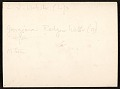 View Edwin Ambrose Webster, Georgianna Webster, and unidentified woman painting en plein air digital asset: verso