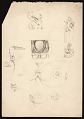 View Edwin Ambrose Webster sketches of architectural ornaments and figures digital asset number 0