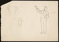 View Edwin Ambrose Webster sketches of architectural ornaments and figures digital asset number 1