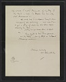 View James McNeill Whistler letter to Herbert Charles Pollitt digital asset: verso