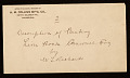 View George Whitney, Philadelphia, Pennsylvania, letter to Henry Hill Collins digital asset: envelope