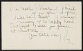 View Note from Robert Strong Woodward to his mother digital asset number 0