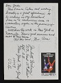 View Ana Mendieta postcard to Judith Wilson digital asset: postcard back 2