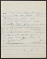 View Walter De Maria letter to Susanna Wilson digital asset number 2